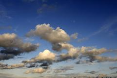 heap clouds, rain clouds, thunder clouds, gathering thunderstorm - stock photo