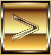 ingot symbol illustration - stock illustration