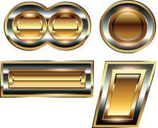 ingot symbol illustration - stock illustration
