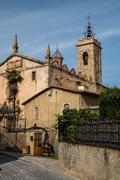 sant feliu church in alella town, spain - stock photo