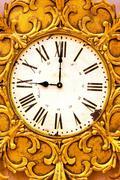 decayed clock - stock photo
