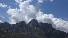 4K Fast Moving Clouds Mountain Time Lapse Stock Footage