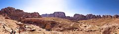 Mountains of the ancient city of Petra in southern Jordan - stock photo