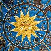 astrology sun - stock photo