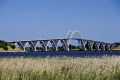 dronning alexandrines bridge between zealand and mon, denmark, scandinavia, e - stock photo