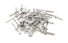 heap of pop rivets - stock photo