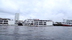 Manaus Harbor in Amazon, Brazil Stock Footage