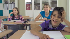 CLass Ready to Answer Teacher's Question Stock Footage