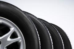 Stock Photo of set of all-season tires