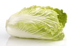 Napa cabbage, type of chinese cabbage Stock Photos