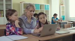 At Computer Studies Lesson Stock Footage