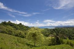 Stock Photo of view overlooking the pacific coast, costa rica, central america