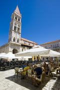 lawrence cathedral, st. lawrence, trogir, northern dalmatia, croatia, europe - stock photo