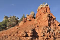 rock formation in red canyon, dixie national forest, utah, usa - stock photo