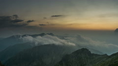 Fagaras Serbota ridges sunset clouds 4K Stock Footage