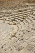 greco-roman amphitheatre, archaeological site, kourion, cyprus - stock photo