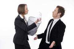 Businesspeople in quarrel Stock Photos