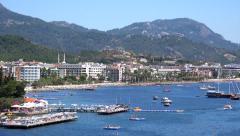 Panorama of southern resort Stock Footage