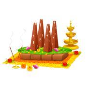 Decorated onathappan for Onam celebration Stock Illustration