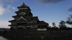 Matsumoto Castle Time Lapse Stock Footage