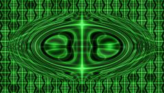 Green Looping Hexagon Tech Abstract with ocular effect Stock Footage