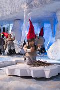 Christmas pixie landscape Stock Photos