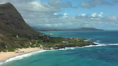 Kaupo beach on ohau island , hawaii Stock Footage
