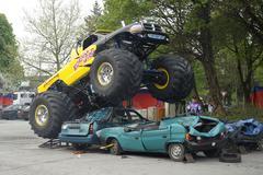 Monster truck show, bergisch gladbach-refrath, north rhine-westphalia, german Kuvituskuvat