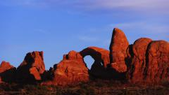 Sunset at Turret Arch in Arches National Park Time Lapse Stock Footage