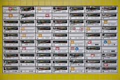 Array of mail boxes Stock Photos