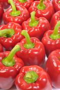 red bell peppers (capsicum) - stock photo