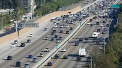 San Diego Freeway Morning Tele Stock Footage