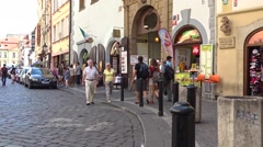 Street in the old town in Prague. Czech Republic Stock Footage