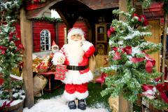 christmas pixie landscape in a shopping center, denmark, europe - stock photo