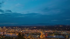 Portland Above Downtown Cloudy Stock Footage