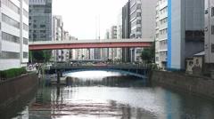 Bridges Over The Kanda River In Akihabara Tokyo 4K Stock Footage