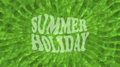 Abstract background in green with inscription summer holiday Stock Footage