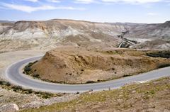Road near mitzpe ramon, negev desert, israel, middle east, southwest asia Stock Photos