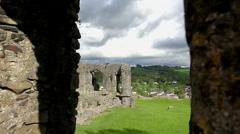 Kendal Castle in Cumbria Stock Footage