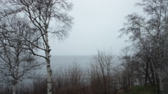 Time lapse by the Bay of Baie-Comeau 02 Stock Footage