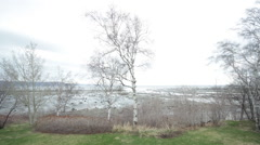 Time lapse by the Bay of Baie-Comeau 01 Stock Footage