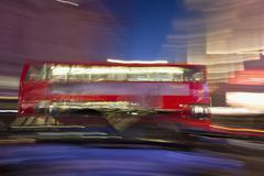 Blurry red bus, piccadilly circus, london, england, united kingdom, europe Kuvituskuvat