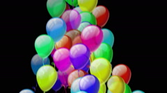 Color Balloons. Alpha matte included. Stock Footage