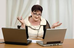giving online math lessons and earn - stock photo