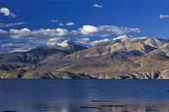 Stock Photo of high-altitude lake tso moriri, tsomoriri or lake moriri, changtang or changth