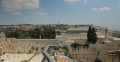 Jerusalem 4K Wailing wall pan 24P Stock Footage