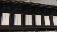 Stock Video Footage of Sanjusangen-do Buddhist Temple in Kyoto