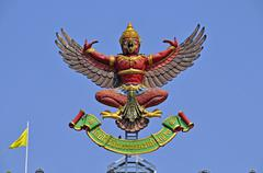 garuda, emblem and official seal of the governmental authorities, bangkok, th - stock photo