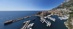 port fontvieille harbour, monaco-fontvieille, monte carlo, principality of mo - stock photo
