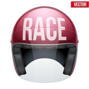 High quality racing motorcycle helmet. Piirros